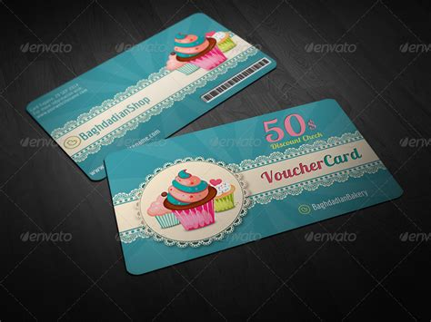 Graphicriver Gift Card Template by Cake Shop Voucher Gift Card Template By Owpictures