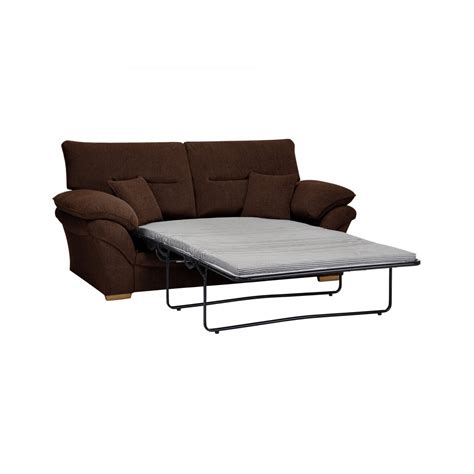 brown material sofa bed 2 seater standard sofa bed in brown fabric