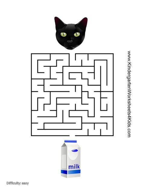 printable cat maze cat mazes
