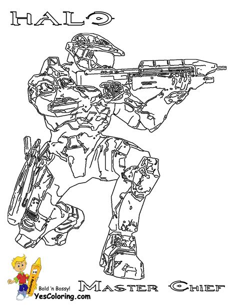 fearless halo3 coloring pages halo3 free halo game