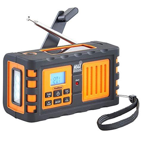Lu Emergensi Solar Cell Premium vonhaus premium noaa weather channel radio w solar dynamo crank usb mains charging