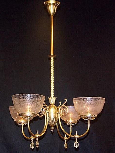 reproduction chandelier four arm gas