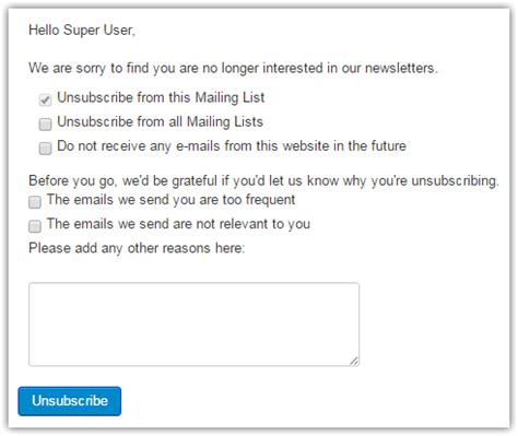 You Subscribed To The Cq Mailing List by Unsubscribe Page