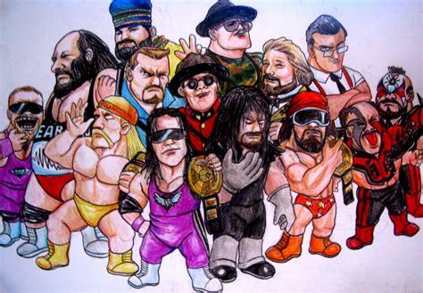 classic wwf wallpaper bonus graphic break wrestling art hittin the canvas