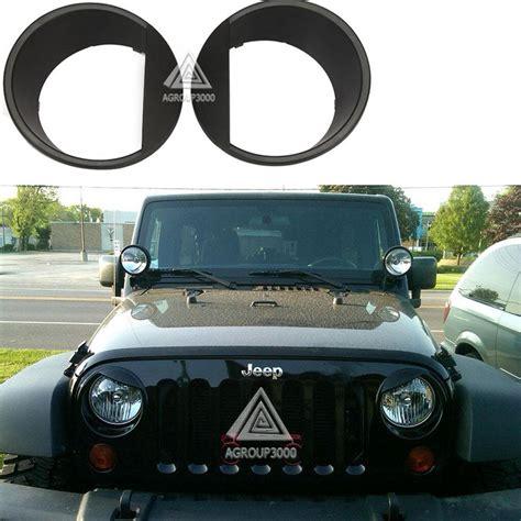 jeep wrangler headlight bezel for jeep wrangler jk 2007 2014 headlight trim bezels