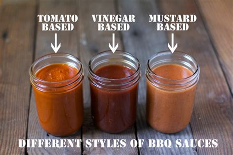 different styles of bbq sauces and recipes for three styles vinegar based mustard based and