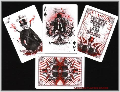 Bicycle Karnival Asassins Card 4deck bicycle karnival midnight assassins cards