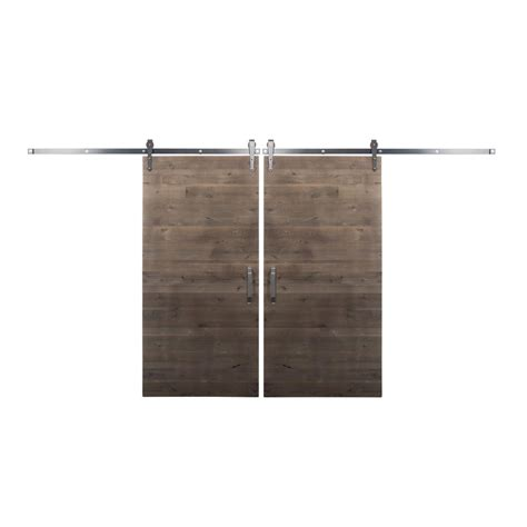 Sliding Barn Door Home Depot Rustica Hardware Bi Parting 36 In X 84 In Rustica Reclaimed Home Depot Gray Barn Doors With