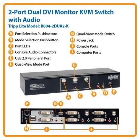 Saklar On Dua Mode Switch On Lu Dua Mode tripp lite 2 port dual monitor dvi kvm switch with audio usb 2 0 hub cables b004
