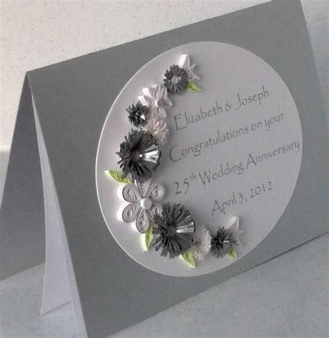 Handmade Silver Wedding Anniversary Cards - silver wedding anniversary card quilling paper quilled 163