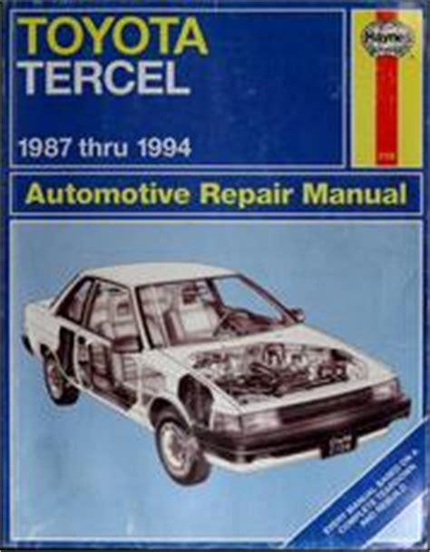 service and repair manuals 1992 toyota tercel navigation system toyota tercel 87 94 automotive repair manual 1997 edition open library