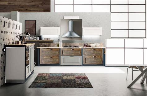 Cucine Industrial Vintage by Cucina Lineare Vintage Industrial In Offerta In Legno