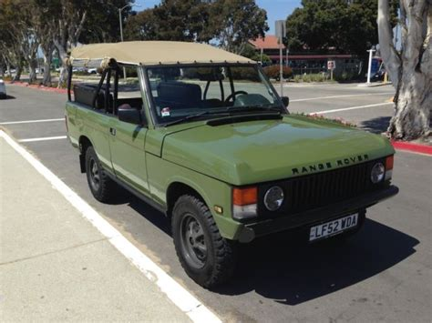 green range rover classic land rover defender convertible 1980 lincoln green for