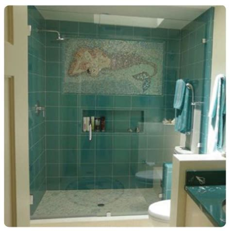 mermaid tile bathroom mermaid shower mermaids pinterest