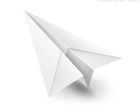 Aeroplane With Paper - white paper airplane psd icon psdgraphics