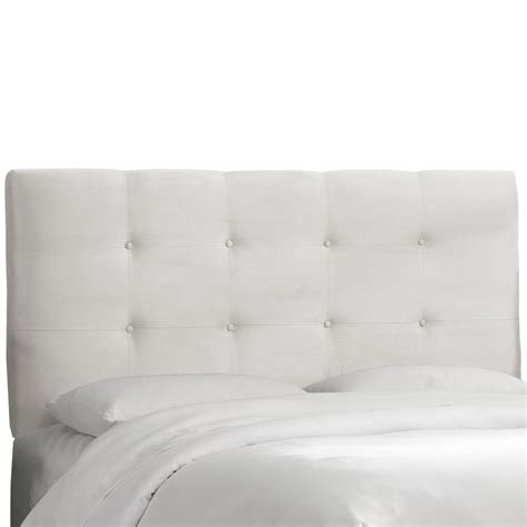 full white headboard skyline furniture tufted full headboard in premier white