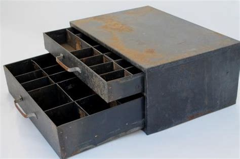 Hardware Storage Drawers by Rustic Industrial Vintage Metal Drawers Hardware Storage