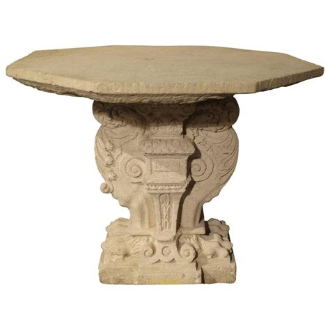 stone bench and table rare period renaissance stone table from the south of