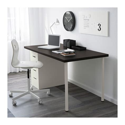 ikea alex desk assembly linnmon alex table black brown white 150x75 cm ikea