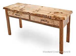 Wood Sofa Table Barn Wood Sofa Table With Burl Wood Reclaimed Cocktail
