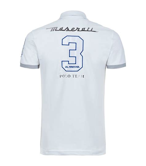 maserati shirts lyst la martina maserati polo shirt in white for