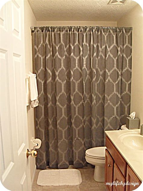 can i use a shower curtain as a window curtain my life by design be our guest guest bathroom