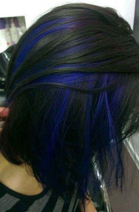 pictures of sapphire black hair with red highlights 1000 ideas about blue hair streaks on pinterest hair