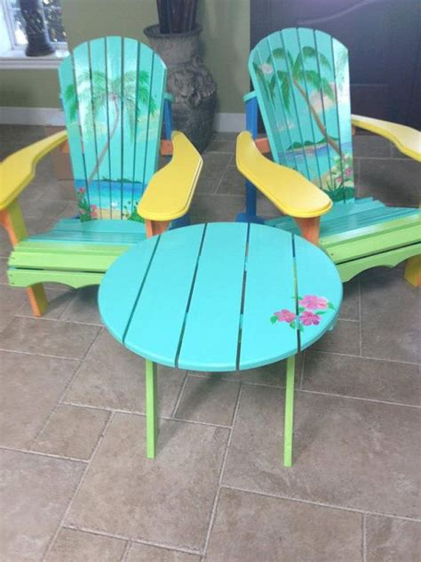 painted adirondack chairs кресла из поддонов table and chairs turquoise