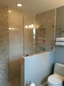 bathroom world hamilton walk in shower walk in and half walls on