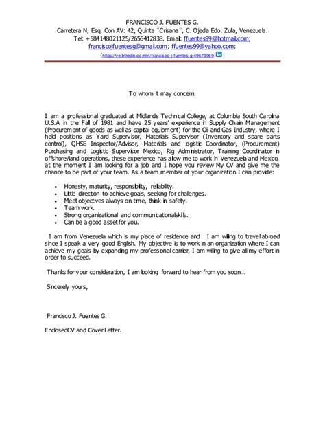 to whom it may concern cover letter sle cover letter to whom 28 images doc 12751650 cover