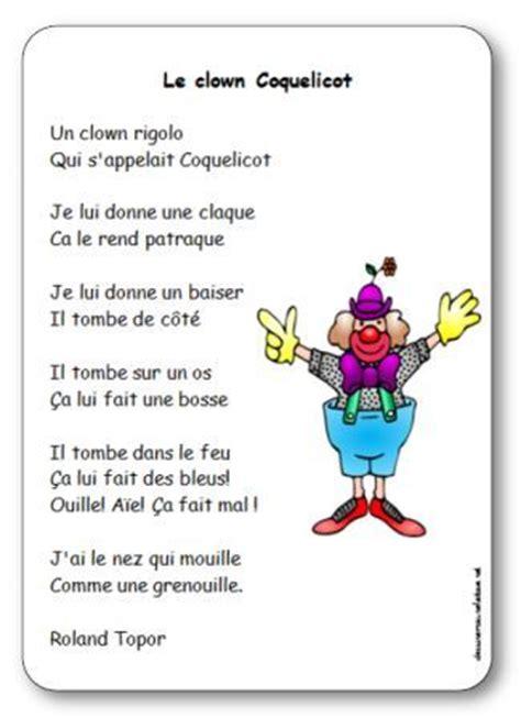 Comptine Le Clown Coquelicot De Roland Topor Paroles