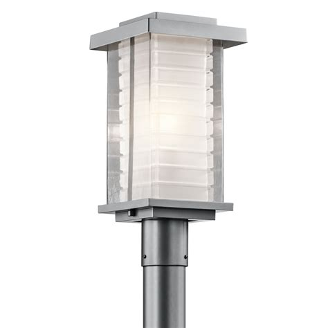Modern Outdoor Post Lights Kichler Lighting Ascari Modern Contemporary Outdoor Post Lantern Ebay