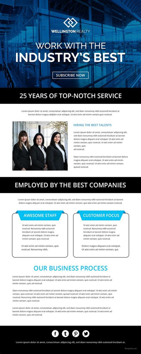 28 Newsletter Templates Word Pdf Publisher Indesign Psd Free Premium Templates Company Newsletter Email Template