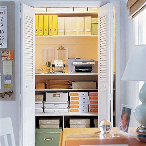 Office Closet Storage Image Elle Decor Who Says Your Office Storage Closet