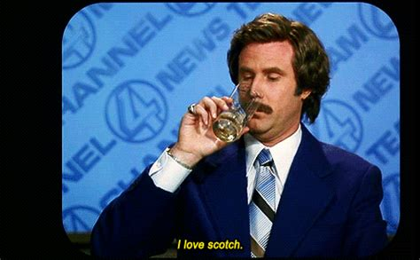 Ron Burgundy Scotch Meme - i have issues with stress and anxiety but i ve been doing