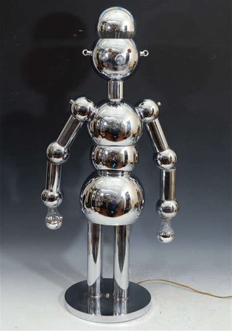 torino chrome robot l mid century chrome robot l by torino designs at 1stdibs