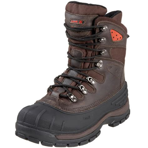 kamik mens blacktail waterproof winter boot in brown for