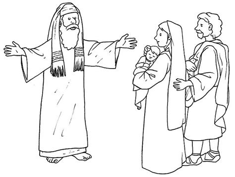 coloring pages baby jesus in the temple 17 best images about bible jesus presentation at