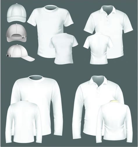 polo shirt and t shirt design template free vector in
