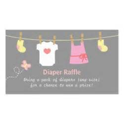 baby shower clothes diaper raffle tickets double