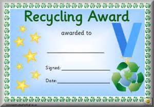 certificate of recycling template awards
