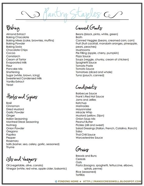 Pantry Essentials List by 17 Best Ideas About Pantry Staples List On