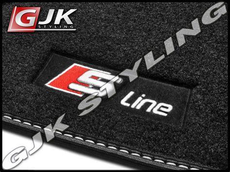 audi a4 b6 b7 01 07 fully tailored black car floor mats s