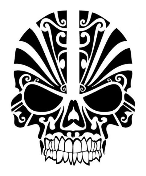 tribal mask tattoo skull tribal mask i would this on my shoulder