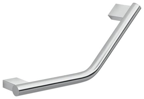 decorative chrome 13 quot wall mounted angled grab bar