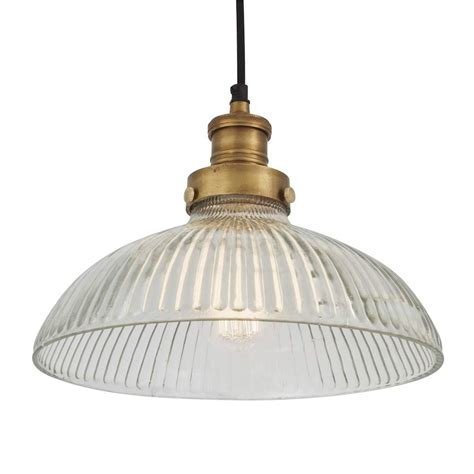 Vintage Style Pendant Lights Vintage Antique 12 Inch Style Ribbed Glass Retro Dome Pendant