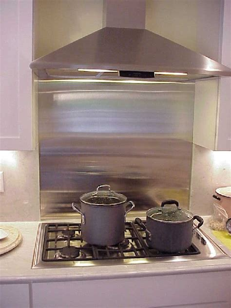 aluminum backsplash kitchen metal backsplashes best kitchen places