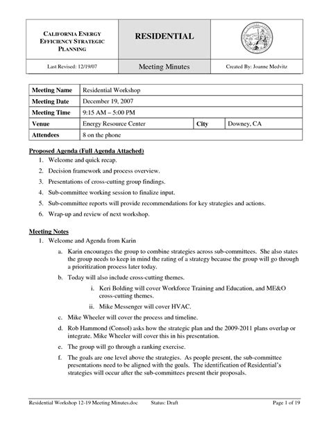 construction meeting minutes template it resume cover