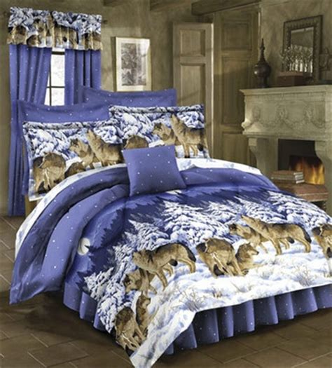 rustic lodge wild wolf wolves cabin twin size bed comforter set  ebay products  love