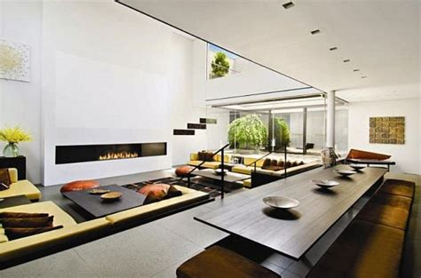 two level living room minimalist living room with two level floor design